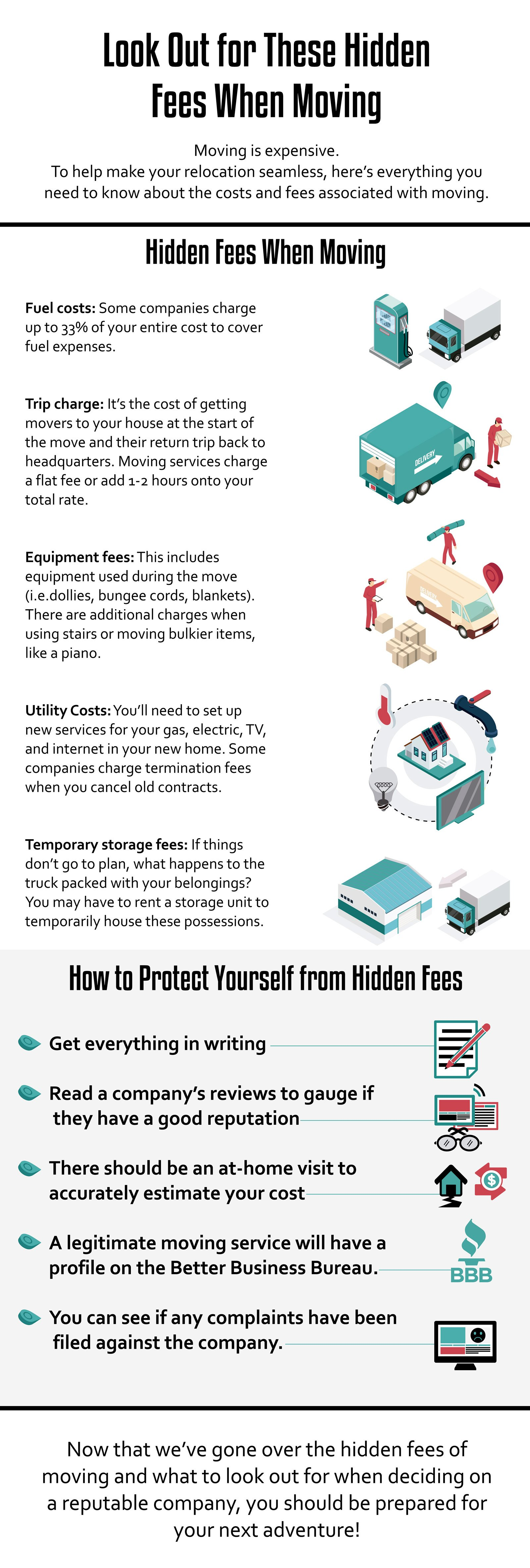 hidden fees when moving